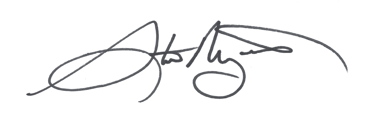 Mayor signature BW