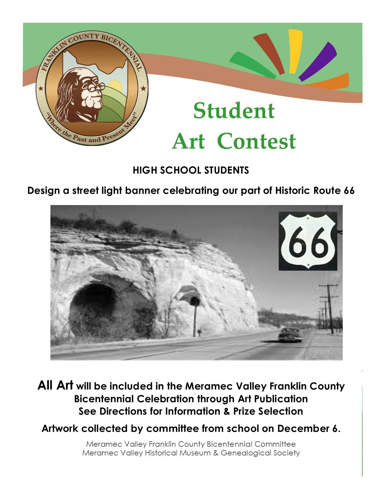 Bicentennial Art Contest Flyer High