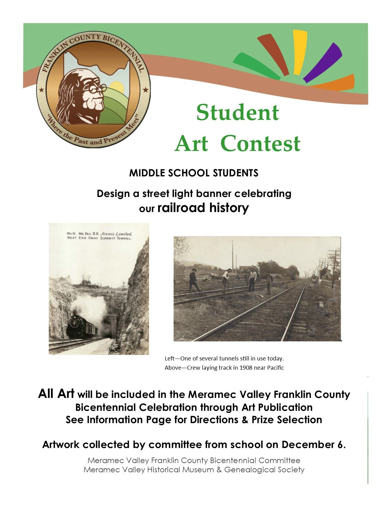 Bicentennial Art Contest Flyer Middle